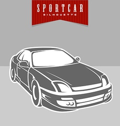 Sport car perspective silhouette view vector image vector image