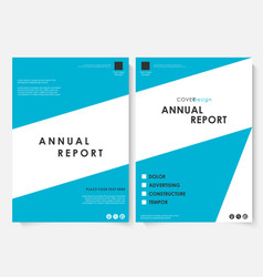 annual report cover design template vector image vector image