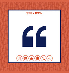 quote icon vector image vector image