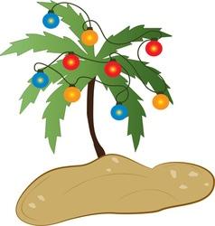 Tropical christmas vector