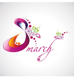 Woman Day 8 March logotype for your design vector image vector image