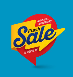 Flash sale banner template special offer end of vector