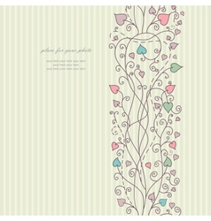 Hand floral greeting card vector image vector image