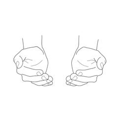 Open empty hands vector image vector image