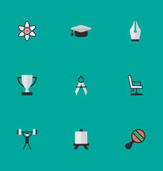 set of simple education icons elements vector image vector image