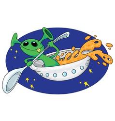 alien in space vector image