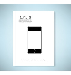 Cover report phone vector image vector image