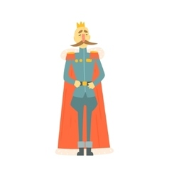 King emperor in military official clothing and vector