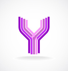 Letter Y logo templateParallel lines style vector image vector image