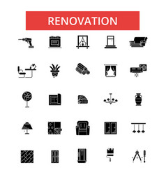 renovation thin line icons linear vector image vector image