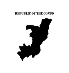 symbol of isle of republic of the congo and map vector image vector image