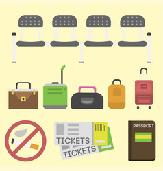 travel tourism fashion baggage and vacation handle vector image