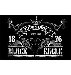 Vintage label black eagle vector