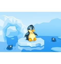 A penguin on an arctic vector