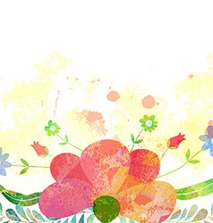 Abstract background with branch of floral vector image