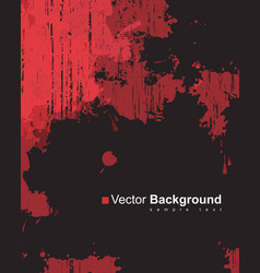 Abstract background with colorful red ink splashes vector