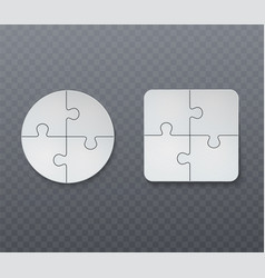 abstract business jigsaw puzzle vector image