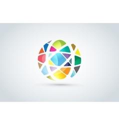 Abstract earth globe logo design vector