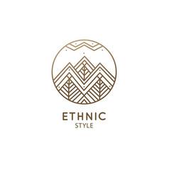 Abstract sacred symbol mountain logo vector