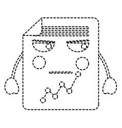 Angry graph chart kawaii icon image vector