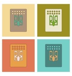 Assembly flat icons emblem of ukraine vector