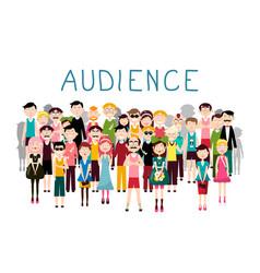 audience groop of people avatars on white vector image