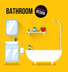 Bathroom interior design vector