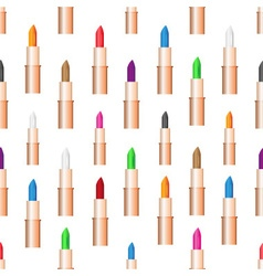 Beauty woman care lipstick color seamless pattern vector