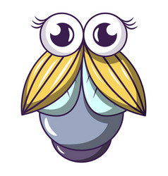 Big fly icon cartoon style vector