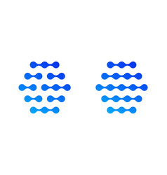 Blockchain technology dot line logo vector