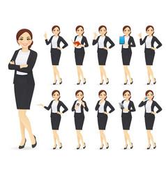 Businesswoman character set vector