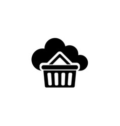 buy cloud storage flat icon vector image