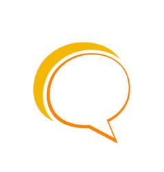 chat talk logo vector image