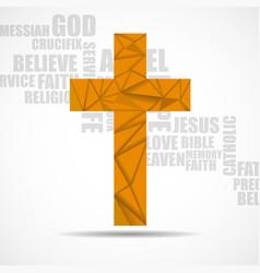Christian church cross triangles religious vector