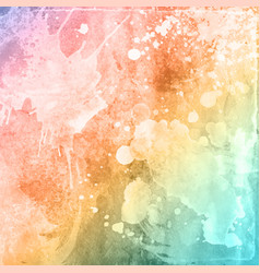 Colourful watercolour texture background vector