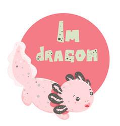 cute kawaii axolotl baamphibian drawing cute vector image