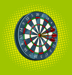 darts game pop art style vector image