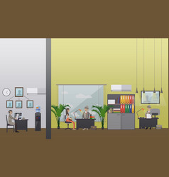 detective office in flat vector image