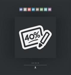 Discount label icon vector