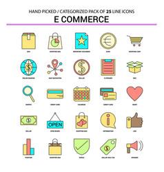 e-commerce flat line icon set - business concept vector image