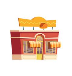 fast food mexican restaurant building cartoon vector image