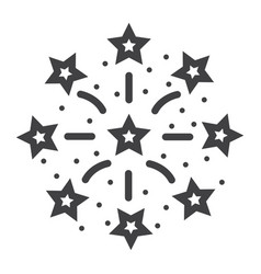 fireworks line icon new year and christmas vector image