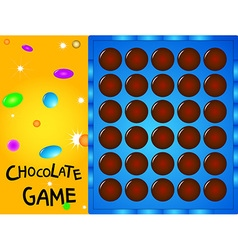 game board chocolate ball vector image
