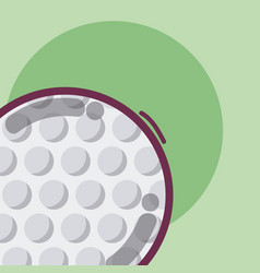 golf game sport equipment vector image