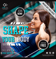 Gym fitness poster vector