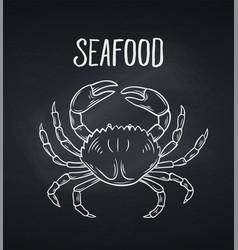 hand drawn crab icon vector image