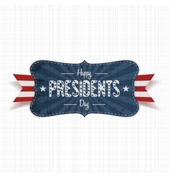 Happy Presidents Day Text on vintage blue Banner vector