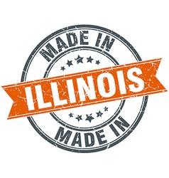 Illinois orange grunge ribbon stamp on white vector