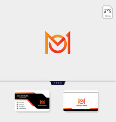 initial m monogram logo template free your vector image