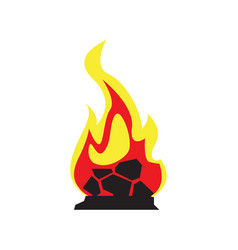 isolated campfire icon vector image